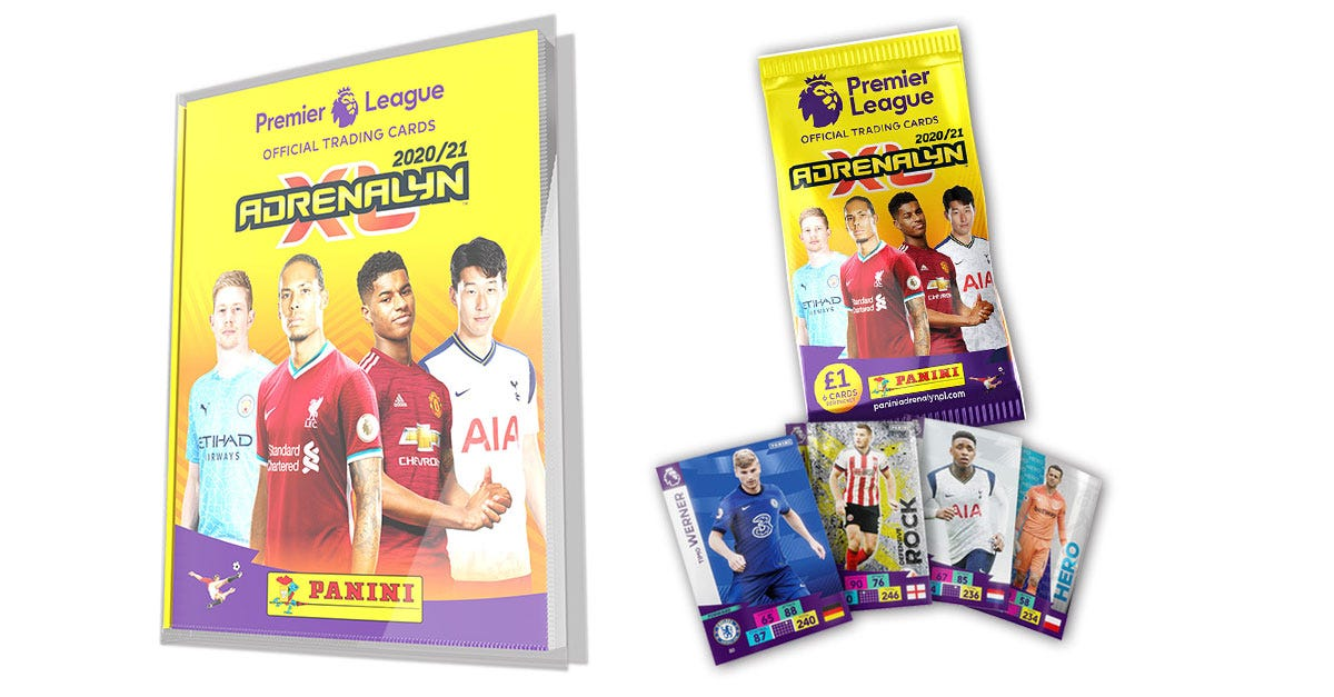 Official Premier League Adrenalyn XLTM Trading Cards 2020/21