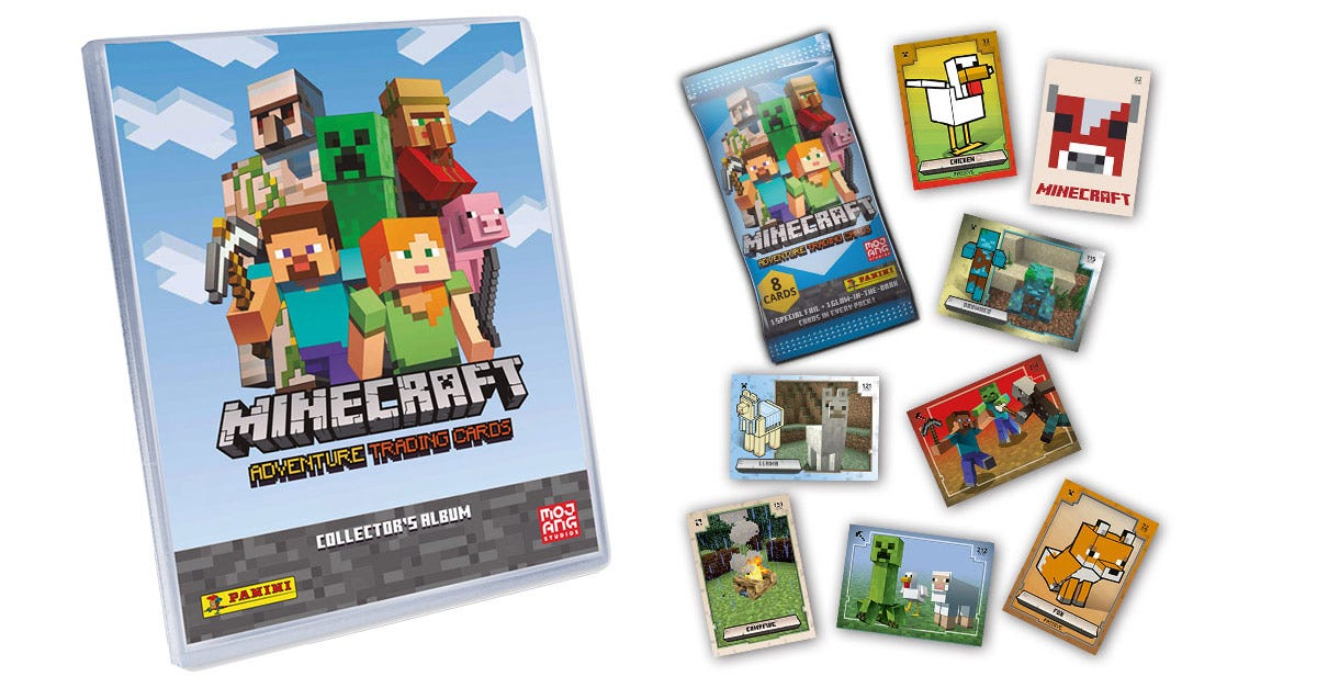Minecraft Adventure Trading Cards Collection 2021