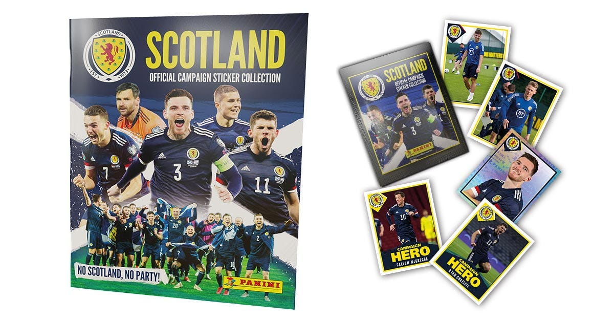 Panini Scotland Official Campaign Sticker Collection 2021