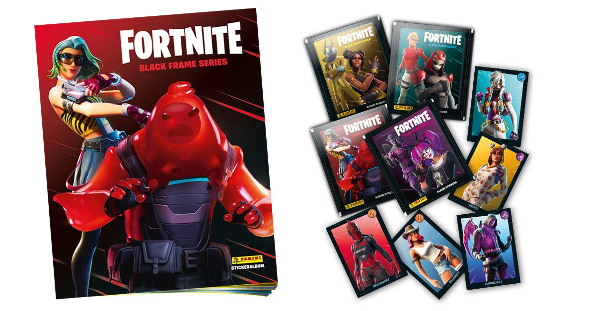 FORTNITE Official Black Frame series sticker collection