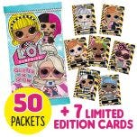 L.O.L. Surprise! 3 Trading Cards - Bundle 50 bustine+FLE 2-8