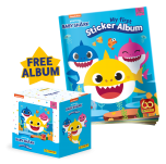 Baby Shark Sticker Collection - Bundle of 50 packets + FREE Sticker Album