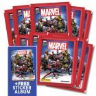 Marvel 80th Sticker Collection - Bundle di 10 bust+Album_Uk
