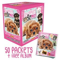 Puppies & Me Sticker Collection - Bundle of 50 Packets and FREE Sticker Album
