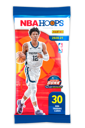 NBA 2020/21 Hoops Basketball Trading Cards - Fatpack