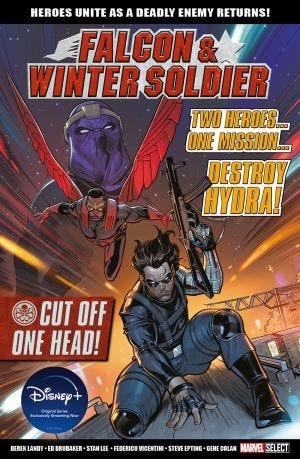 MARVEL BOOKAZINE FALCON & WINTER SOLDIER:CUT OFF ONE HEAD