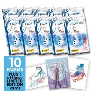 Frozen 2 Movie Trading Card Bundle of 10 trading card pac
