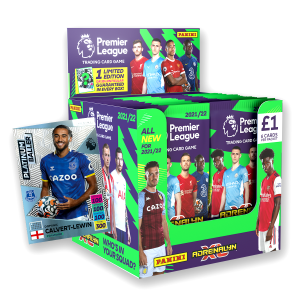Premier League Adrenalyn XL 21/22 Trading card Collection - 70 Count Box with Platinum Baller No 3 numbered to 200