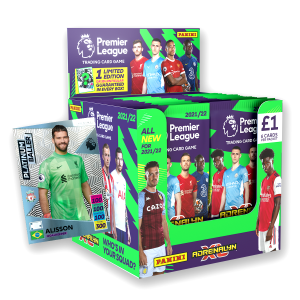 Premier League Adrenalyn XL 21/22 Trading card Collection - 70 Count Box with Platinum Baller No 6 numbered to 200
