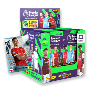 Premier League Adrenalyn XL 21/22 Trading card Collection - 70 Count Box with Platinum Baller No 8 numbered to 200