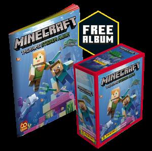 Minecraft Sticker Collection - Box of 24 packets + FREE Sticker Album